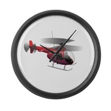 Cartoon Helicopter Large Wall Clock