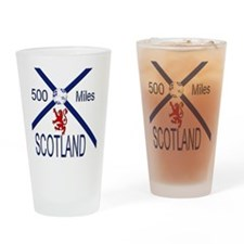 Scotland Football 500 Miles Drinking Glass