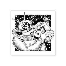 """Robot Monster Ukulele Square Sticker 3"""" x 3&q"""