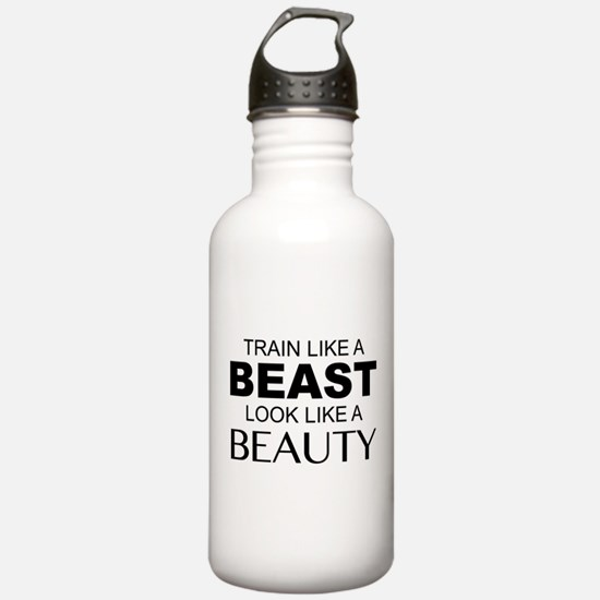 Train Like A Beast Look Like A Beauty Water Bottle