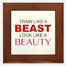 Train Like A Beast Look Like A Beauty Framed Tile