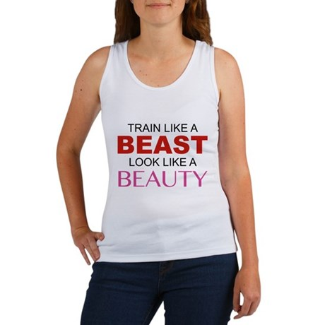Train Like A Beast Look Like A Beauty Women's Tank