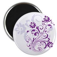 pretty modern purple swirl floral Magnet