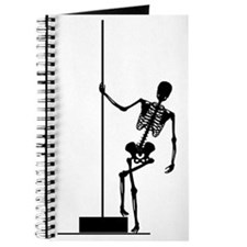 funny skeleton pole dancer Journal