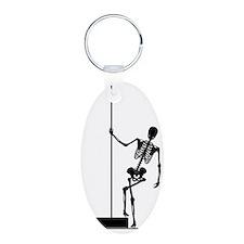 funny skeleton pole dancer Keychains