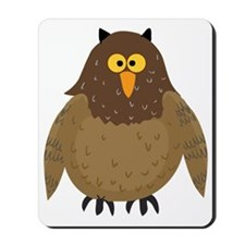 cute plump brown owl Mousepad