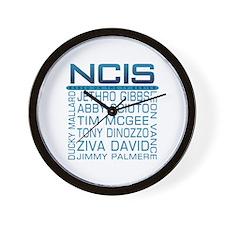 NCIS Logo & Characters Names Wall Clock