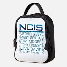 NCIS Logo & Characters Names Neoprene Lunch Bag