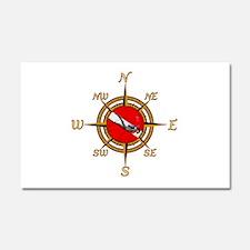 Dive Compass Car Magnet 20 x 12