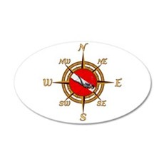 Dive Compass Wall Decal