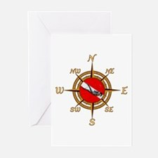 Dive Compass Greeting Cards (Pk of 20)