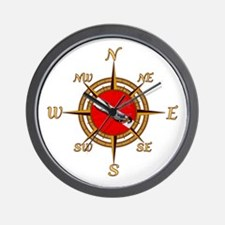 Dive Compass Wall Clock