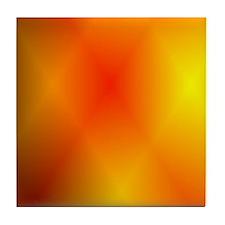 Bright Burnt Orange Tile Coaster
