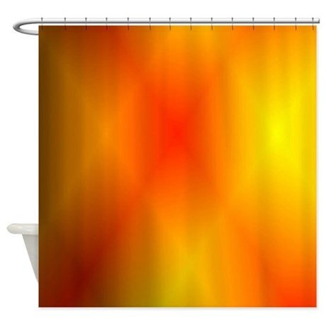 Captivating Bright Burnt Orange Shower Curtain
