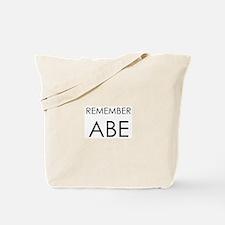 Remember Abe Tote Bag