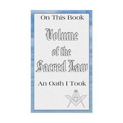 Masonic VSL Oath Rectangle Decal