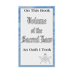 Masonic VSL Oath Rectangle Decal