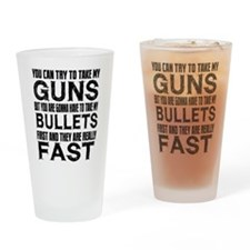 Fast Bullets Drinking Glass