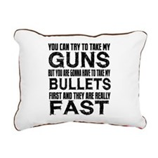Fast Bullets Rectangular Canvas Pillow
