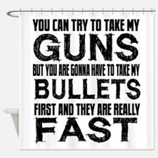 Fast Bullets Shower Curtain