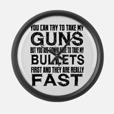 Fast Bullets Large Wall Clock