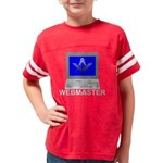 MASONIC WEBMASTER BLACK 10x10 Youth Football Shirt