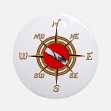 Dive Compass Woman Ornament (Round)