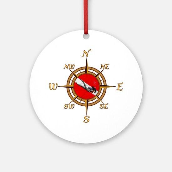 Dive Compass Woman Ornament (Round)