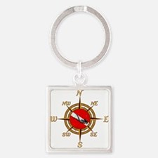 Dive Compass Woman Keychains