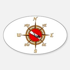 Dive Compass Woman Decal