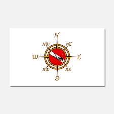 Dive Compass Woman Car Magnet 20 x 12
