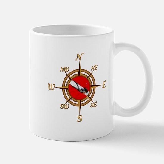 Dive Compass Woman Mug