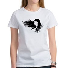 Beautiful woman with black curly hair T-Shirt