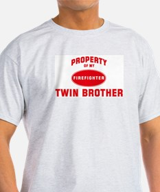 TWIN BROTHER Firefighter-Prop Ash Grey T-Shirt