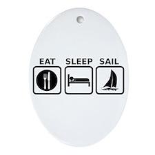 Eat Sleep Sail Ornament (Oval)