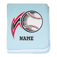 Personalized Baseball Pitch baby blanket