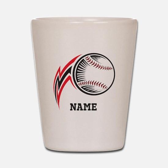 Personalized Baseball Pitch Shot Glass