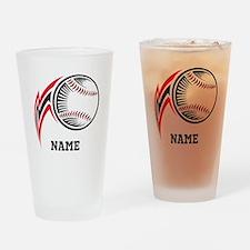 Personalized Baseball Pitch Drinking Glass