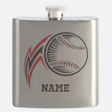 Personalized Baseball Pitch Flask