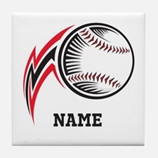 Personalized Baseball Pitch Tile Coaster
