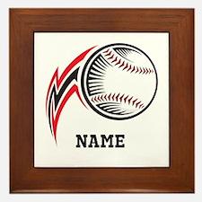 Personalized Baseball Pitch Framed Tile