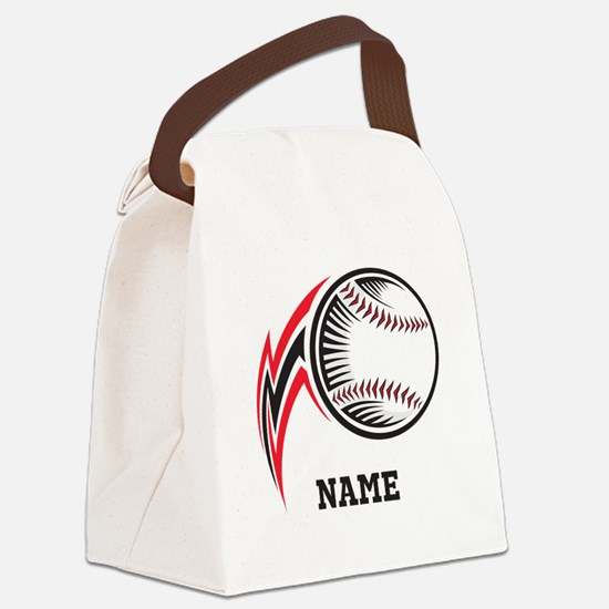 Personalized Baseball Pitch Canvas Lunch Bag