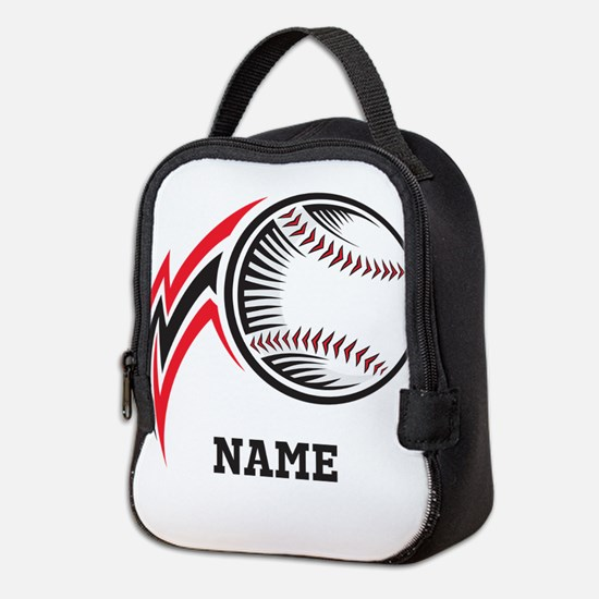 Personalized Baseball Pitch Neoprene Lunch Bag
