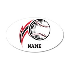 Personalized Baseball Pitch 20x12 Oval Wall Decal