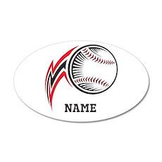 Personalized Baseball Pitch 35x21 Oval Wall Decal