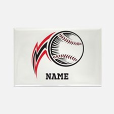 Personalized Baseball Pitch Rectangle Magnet (100