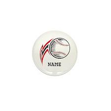 Personalized Baseball Pitch Mini Button (100 pack)