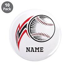 "Personalized Baseball Pitch 3.5"" Button (10 pack)"