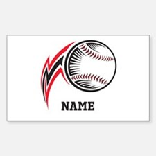 Personalized Baseball Pitch Sticker (Rectangle)