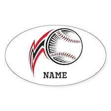 Personalized Baseball Pitch Bumper Stickers